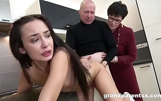 Creepy Old Couple Gives Sex Briefing To Hot Teen
