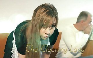 OMG My dad fucks young cleaning lady meet approval she seduces him with his tight pussy and sexy outfit she sucks his cock and lets the daddy fuck their way wet pussy hardcore insusceptible to the couch